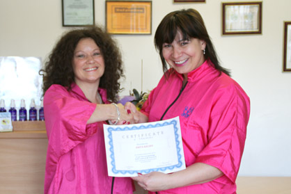 Svetlana with Anita at Pet Universe - International Cat Grooming School